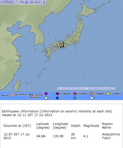 M4.1 hit Awaji-shima in Hyogo