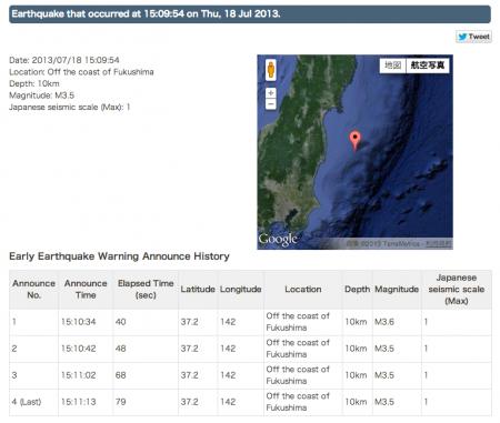 [Timely] M3.5 hit Fukushima offshore
