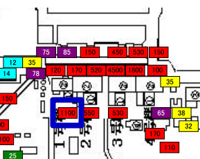 [Survey map] West side of reactor1, 1.1 mSv/h in June → 1.7 mSv/h in July /