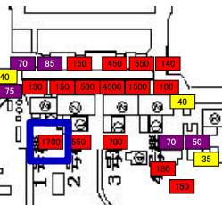 2 [Survey map] West side of reactor1, 1.1 mSv/h in June → 1.7 mSv/h in July /