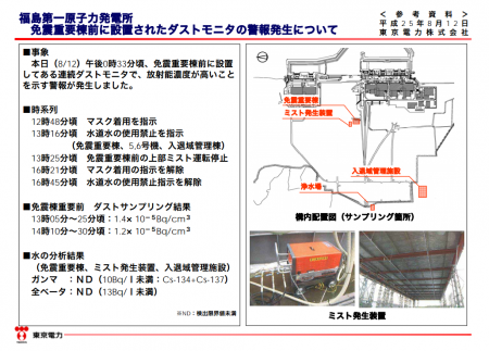 "Tepco ""Water source of the mist was not contaminated"""