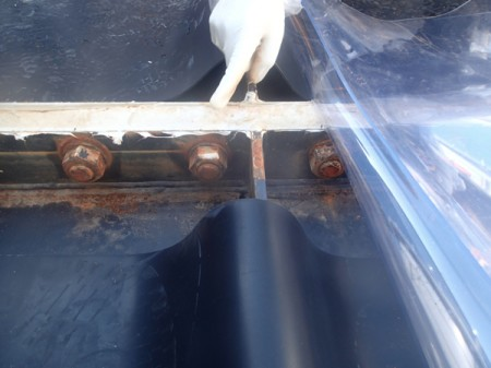 300m3 leakage tank had 5 loosened bolts, sealing parts widely detached