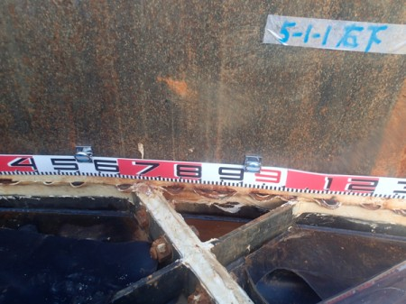 3 300m3 leakage tank had 5 loosened bolts, sealing parts widely detached