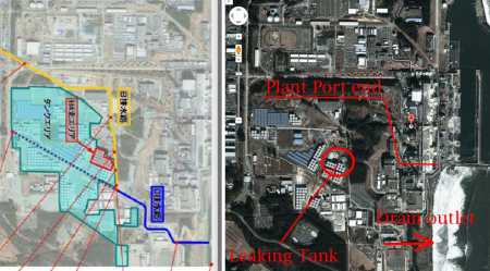 [Photo] A part of the leaked 300m3 flows to outside of Fukushima plant port