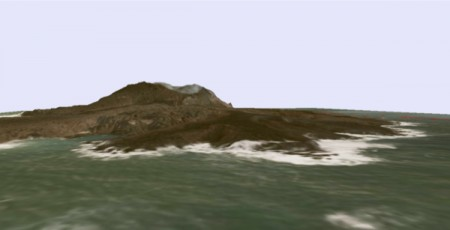 JP Gov made 3D maps of new volcanic island south offshore of Tokyo