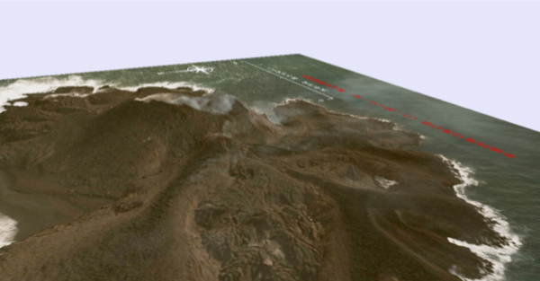 2 JP Gov made 3D maps of new volcanic island south offshore of Tokyo