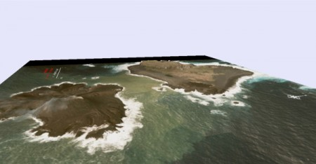 5 JP Gov made 3D maps of new volcanic island south offshore of Tokyo