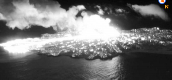 """New crater appeared on the new volcanic island / Erupting every 10 seconds / Expert """"Extremely active"""""""