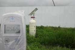 [Photo] Personal geiger counter indicates radiation level 1.8 times higher than public monitoring post