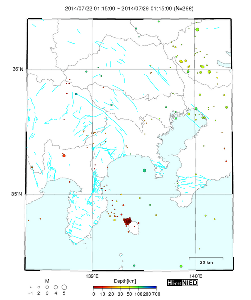 10 quakes within 10 hours in Izuohshima island Epicenter Very
