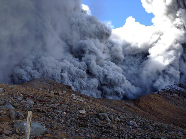 2 Volcano erupted in the central Japan : Over 10 people cardiopulmonary arrest, still 43 missing