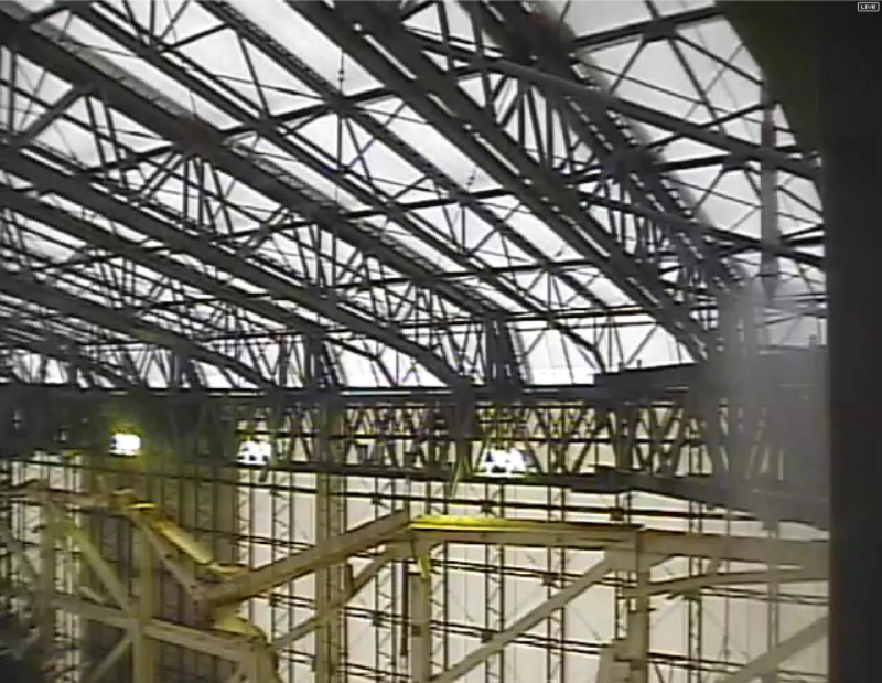 2 Tepco started dismantling Reactor 1 cover - Video