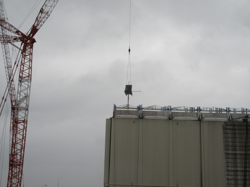 4 Tepco started dismantling Reactor 1 cover - Video
