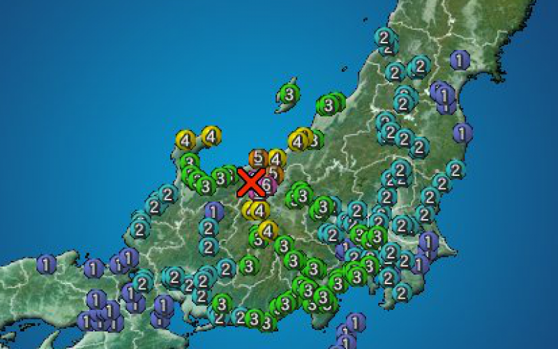 M6.8 hit Northern part of Nagano / 50 aftershocks within 24 hours