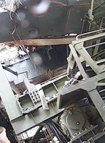 14 Tepco released photos of Reactor 1 : Fuel handling machine hung just above SFP to support