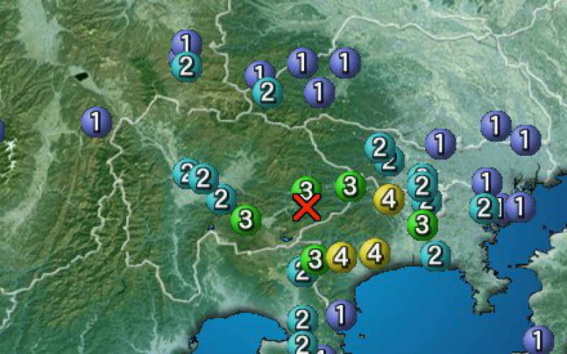 M4.3 quake occurred at the foot of Mt. Fuji