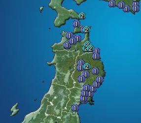 2 M5.4 hit Eastern part of Hokkaido