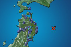 Another M5.7 hit North East Japan offshore again