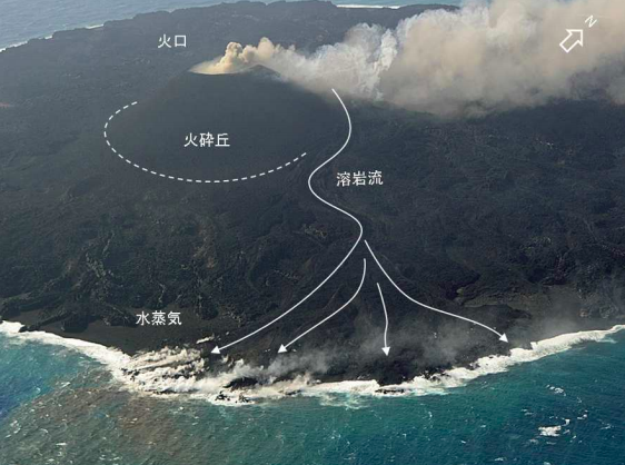 3 Seawater offshore the volcanic island in South of Tokyo observed changing for 2km and 4km area