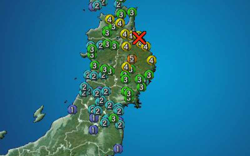 M5.8 hit North East Japan coastal area / M4.4 occurred 2 hours before too