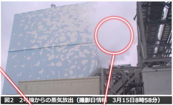 Photos Tepco admitted Reactor 2 and 3 directly released radioactive material to the air by 3:15:2011 : 100 Sv:h measured in vessel