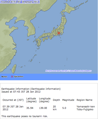 M5 class of earthquake hit Japan 4 times in 2 hours2