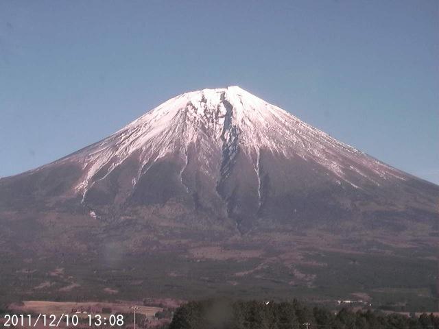 Mt. Fuji is melting its snow