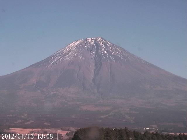 Mt. Fuji is melting its snow2