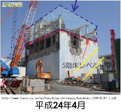 Crack on reactor 4 building5