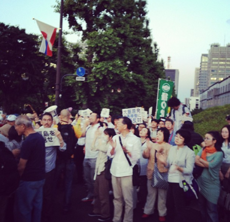 [Photos] Demonstration of 200,000 people occupied official residence52