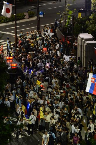 [Photos] Demonstration of 200,000 people occupied official residence66