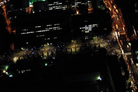 [Photos] Demonstration of 200,000 people occupied official residence 81