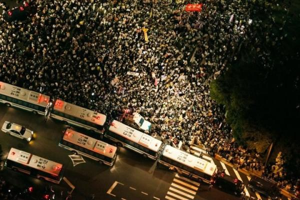 [Photos] Demonstration of 200,000 people occupied official residence 80
