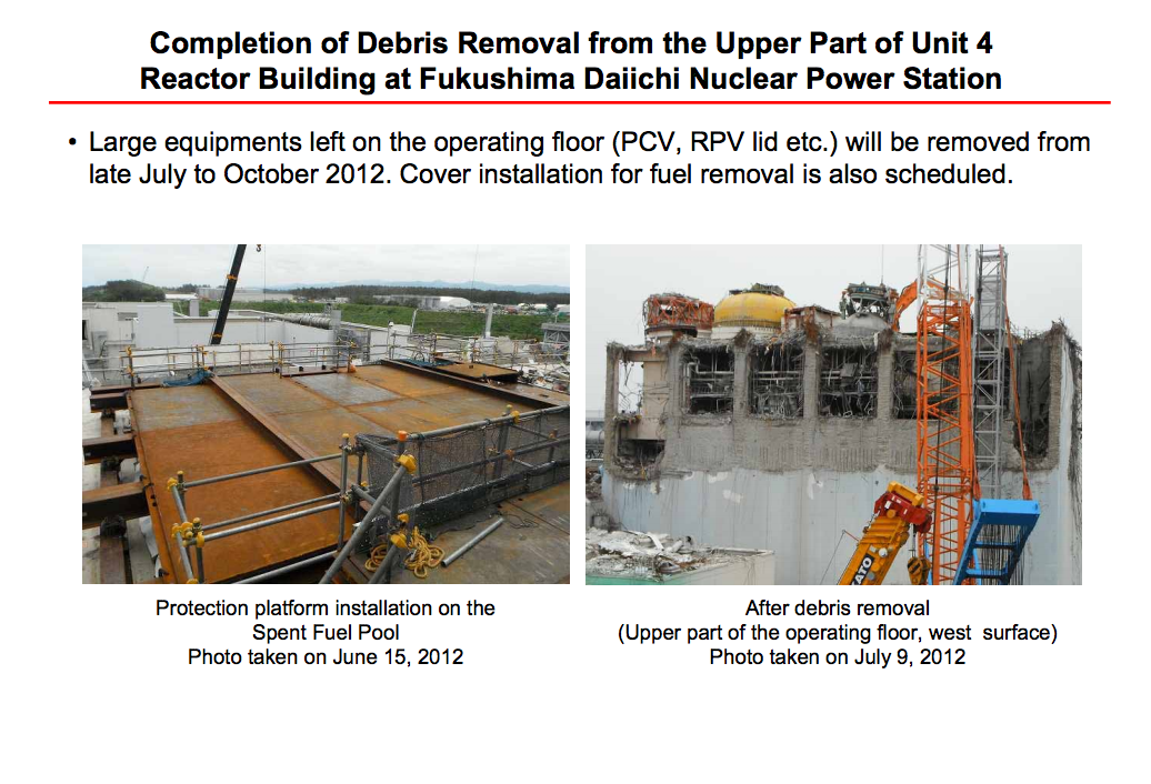 [Reactor4] Debris removal was finished, there's nothing above SFP4 6