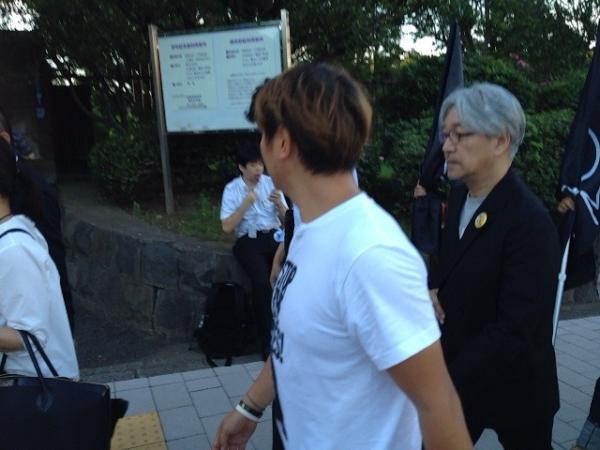 [Ajisai] Sakamoto Ryuichi visited protest 2