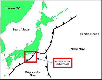 The potential Nankai megathrust earthquake would cause 220 trillion yen damage and 5 million evacuees