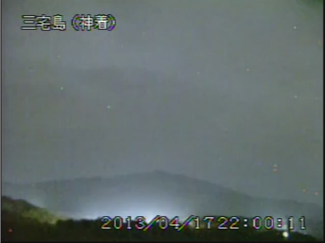 [Suspicious] Miyake-jima looking glowing in live camera after M6.2