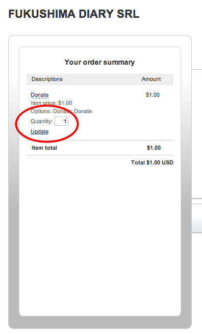[Notice] Paypal button for Fukushima Diary corporation added to the site but still received by me