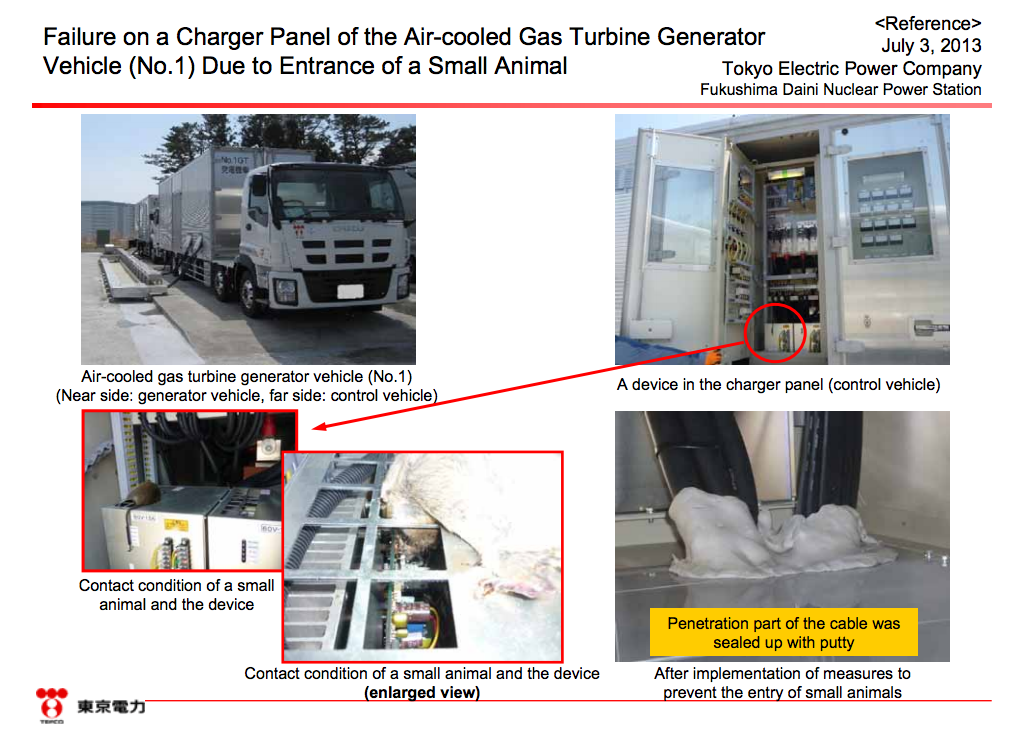 3 [Again] Charger panel in Fukushima Daini disordered due to a rat