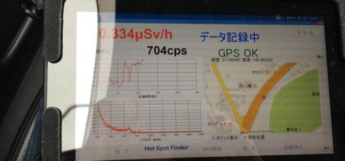 "0.33 μSv/h measured ""in a car"" in Fukushima city – Photo"