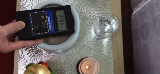 Radiation level was over 3 times much as background on incense sticks for funesral