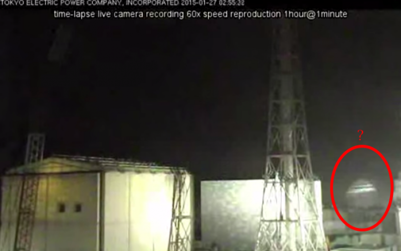 Unidentified phenomenon around Reactor 3 recorded on Live Camera