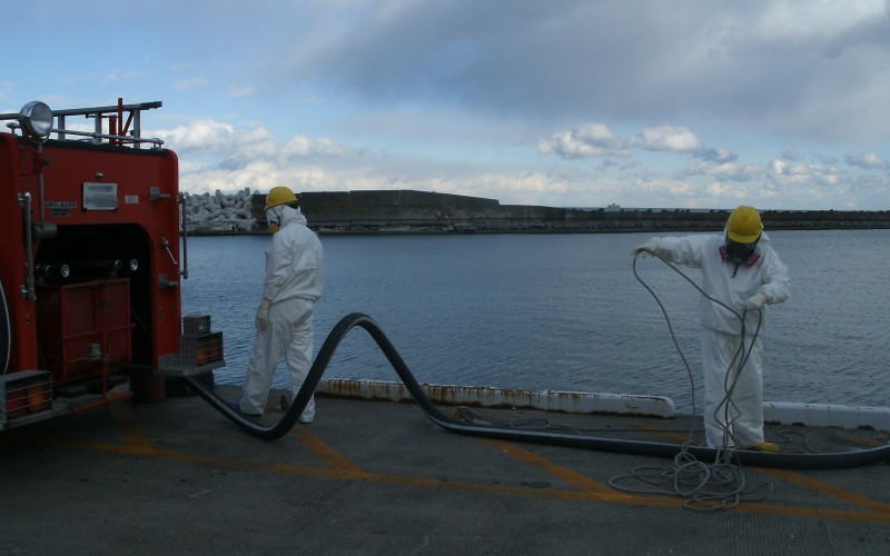 Cs-134/137 detected from all of the marine soil samples along Eastern Japan coastal area