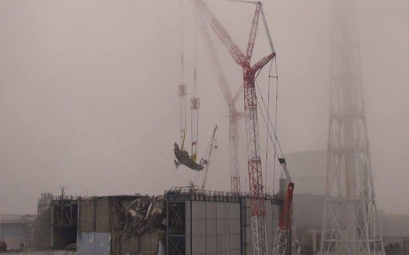 Cs-134/137 density became the highest reading at 4 points inside and outside Fukushima plant port