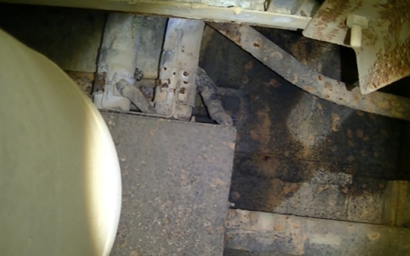 [Photo] Tepco reports groundwater stopped flowing into Reactor 1 at one of the ducts