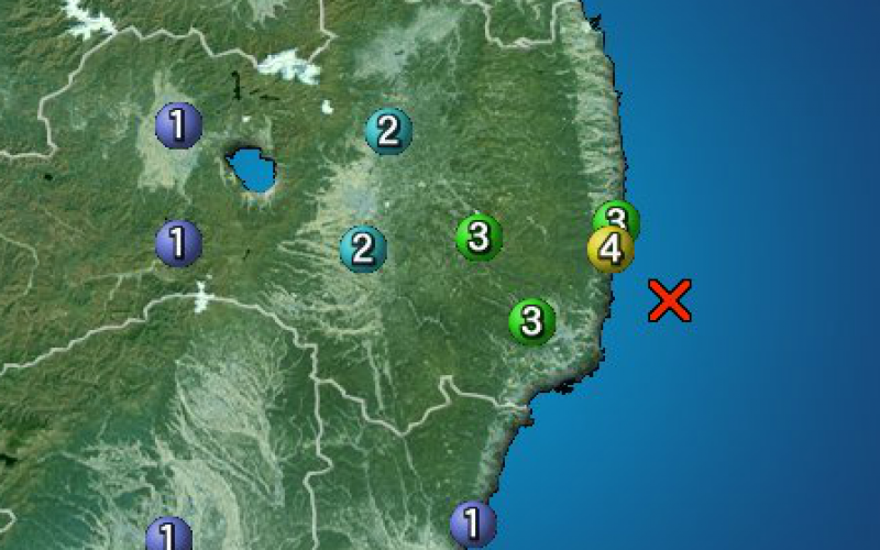 M4.2 occurred Fukushima offshore