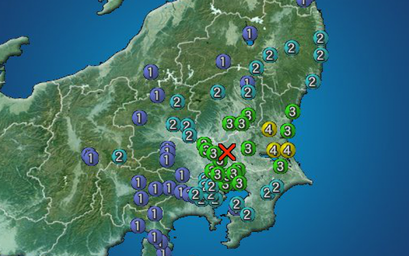 M5.0 hit southern part of Ibaraki prefecture
